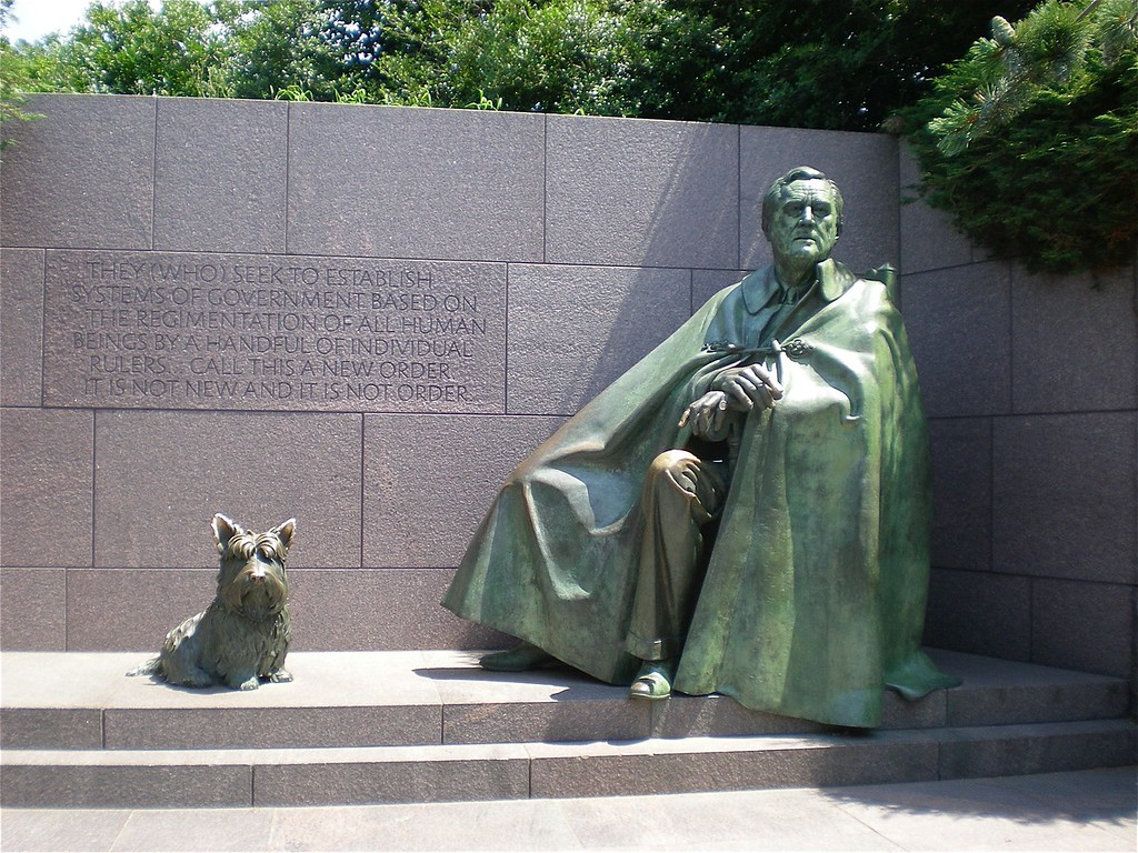 Fela and FDR at his Memorial