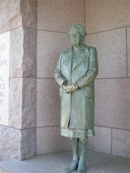 Elenor at the FDR Memorial