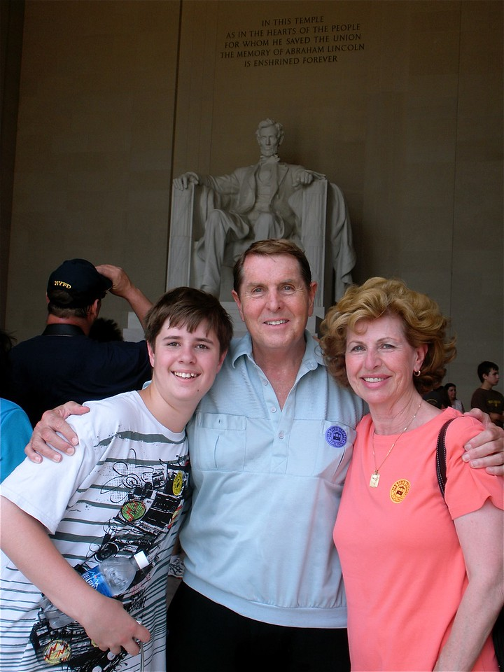 Cotton Family inside the  Lincoln  Memorial