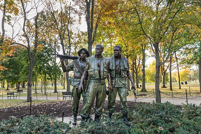 Vietnam Memorial, Three Soldiers