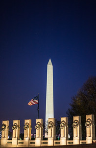 World War II Memorial at Night 2