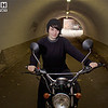 Manchester, Female, Motorbike, Jumper, T-Shirt, Hat, Jeans, Motorbike, Bike, Black, Grey, Silver, Crome, Tunnel,
