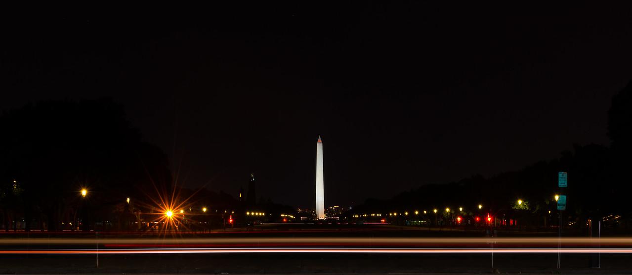 Washington from US Capitol car slight streaks