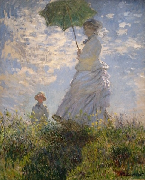 Monet, Woman with a Parasol: National Museum of Art in Washington DC, Summer Vacation  2008