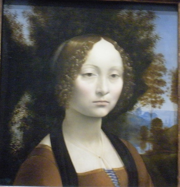 Ginevra de Benci by Leonardo  da Vinci: National Museum of Art in Washington DC, Summer Vacation  2008