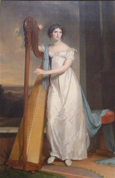 Lady with the Harp by Sully: National Museum of Art in Washington DC, Summer Vacation  2008