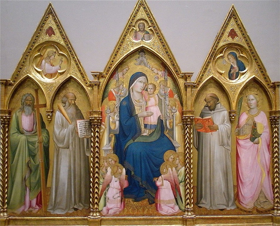 Madonna and Child: Lorenzetti: National Museum of Art in Washington DC, Summer Vacation  2008