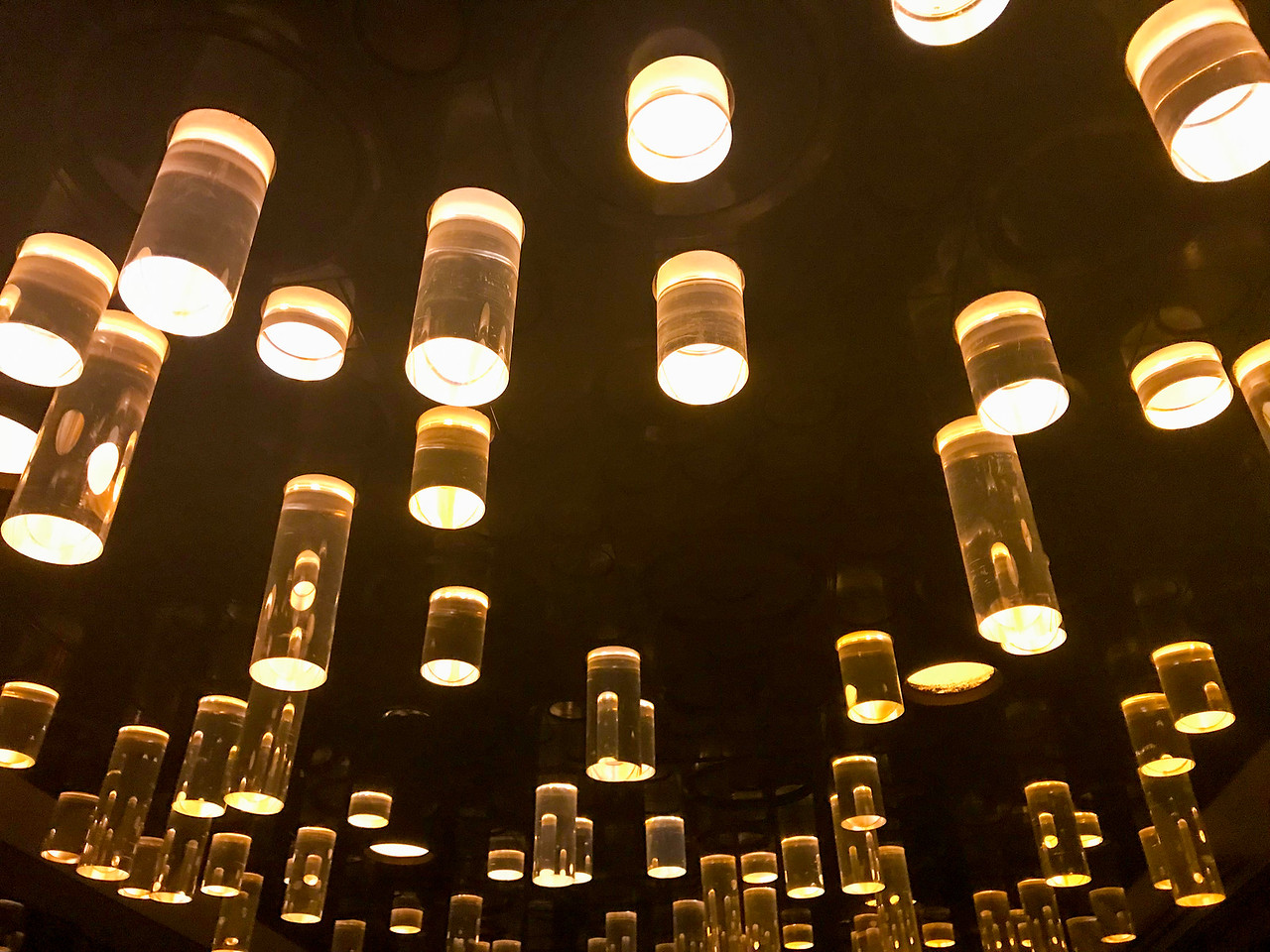 Cool lights at The Standard Biergarten in New York City.