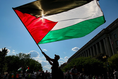 Pro-Palestine demonstrators march from the Washington Monument to the U.S. Capitol