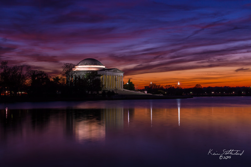 Jefferson Memorial Sunset - 01