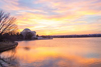 Sunset at the Tidal Basin