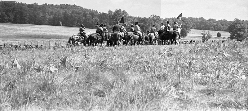7-5-2013 Civil War Reenactment in Black and White