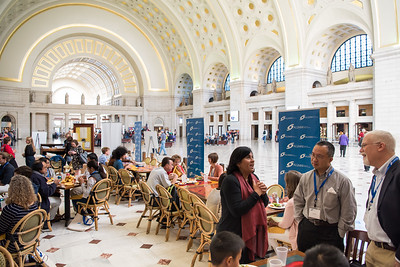 Society for Science & the Public's Alumni Reception in the airy space of Union Station in Washington, DC.