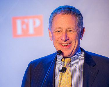 CEO and editor of the Foreign Policy Group, David Rothkopf speaks at the annual Diplomat of the Year reception at POV in the District of Columbia.