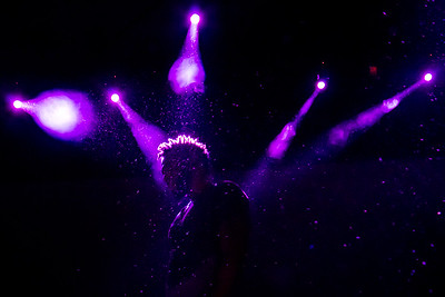 A silhouette of Jason Derulo performing at the Baltimore Convention Center.