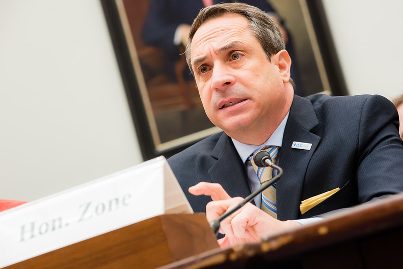 CEO of NLC Matt Zone testifying at a hearing federal brownfields program carried out by the Environmental Protection Agency,.
