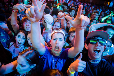 Intense crowd reactions during a concert.