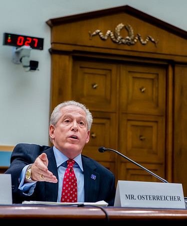 Attorney at Law Mickey Osterreicher testifying at a Capitol Hill hearing.
