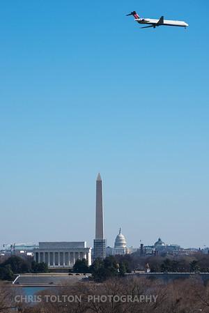 Delta in front of DC Memorials