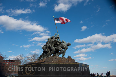 Iwo Jima Memorial from Side