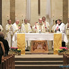"LITURGY—Bishop Edward Rice celebrated Mass along with several other diocesan clergy the evening of Fri., April 20, opening the 60th annual DCCW Spring Assembly. ""For 60 years,"" Bp. Rice said, ""you've been the backbone of our parishes, doing the great and small works that have helped this diocese become what it is today."" (Photo by J.B. Kelly/<i>The Mirror</i>)"