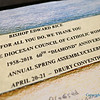PRAYER SCROLL—During the Spring Assembly April 20-21, DCCW President Rita Lueckenotte presented Bp. Edward Rice with a scroll containing greetings and prayers from all the members of the DCCW on the occasion of its 60th anniversary. (<i>The Mirror</i>)