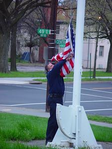 Sid raising flag (1 of 1)