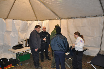One of many first aid tents...