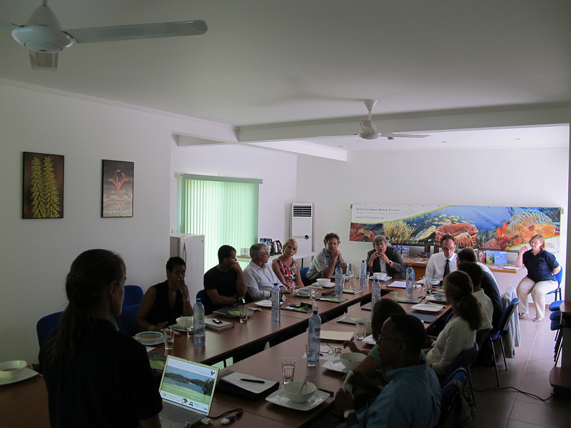 Visit of Mrs. Annemie Burger, Director General of Nature and Region (EL&I), to DCNA's office in Bonaire