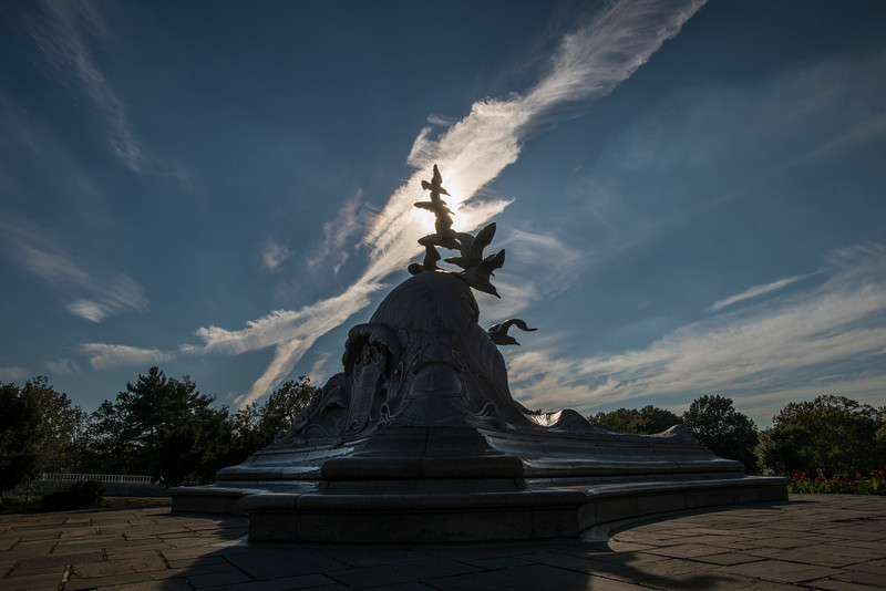 The Navy-Merchant Marine Memorial, located in Lady Bird Johnson Park on Columbia Island in Washington DC. Photo by Alexis Glenn/Creative Services/George Mason University