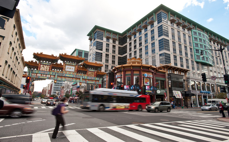 Chinatown neighborhood, Washington DC. Photo by Alexis Glenn/Creative Services/George Mason University