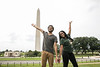 George Mason Students enjoying the sights of Washington DC.  Photo by:  Ron Aira/Creative Services/George Mason University