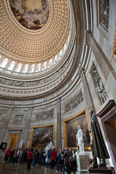 U.S. Capitol building, Capitol Hill, interior rotunda. Photo by Alexis Glenn/Creative Services/George Mason University