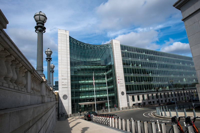 The Securities and Exchange Commission in Washington, DC. Photo by Evan Cantwell/Creative Services/George Mason University