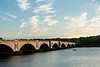 Memorial Bridge is seen from Washington DC. Photo by Alexis Glenn/Creative Services/George Mason University