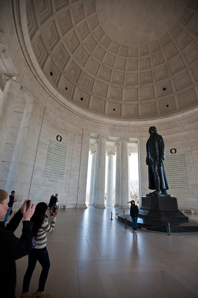 Tourists photograph the Jefferson Memorial in Washington DC. Photo by Alexis Glenn/Creative Services/George Mason University