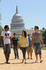 100505270 - Mason students walking in front of the Capitol Building in Washington, DC. Photo by Evan Cantwell.