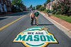 """We Are Mason"" Road Decals in the City of Fairfax"
