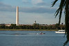 The Washington Monument and the Old Post Office clock tower are seen from Lady Bird Johnson Park on Columbia Island in Washington DC. Photo by Alexis Glenn/Creative Services/George Mason University