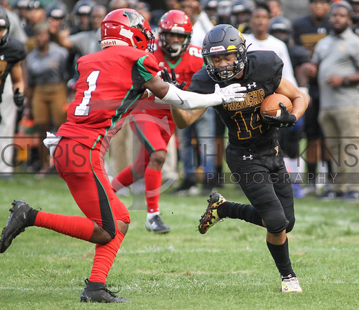 September 14, 2019: HS football action between HD Woodson HS and Friendship Collegiate Academy in Washington DC. Photos by Chris Thompkins/thesportsfannetwork