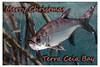 Post Card Fish merry x-mas border
