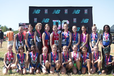 DCXC Invite - Middle School Girls Top Finishers