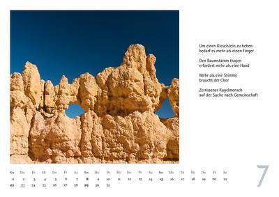 """Foto-Lyrik-Kalender 2019 """"Wolkengestalten und Steingeschöpfe"""" Juli"""