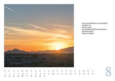 """Foto-Lyrik-Kalender 2019 """"Wolkengestalten und Steingeschöpfe"""" August"""