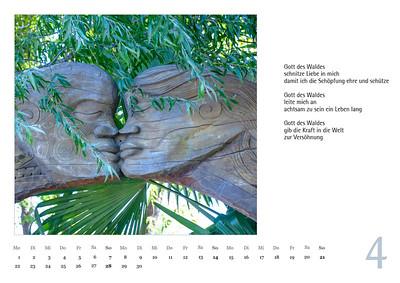 """Foto-Lyrik-Kalender 2019 """"Schöpfungsgeschichten"""" April"""