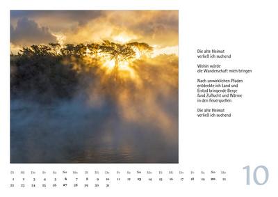 """Foto-Lyrik-Kalender 2019 """"Schöpfungsgeschichten"""" Oktober"""