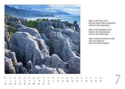 """Foto-Lyrik-Kalender 2019 """"Schöpfungsgeschichten"""" Juli"""