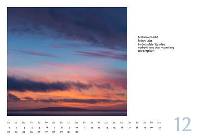 """Foto-Lyrik-Kalender 2020 """"An der Küste von Grünland"""" Dezember"""