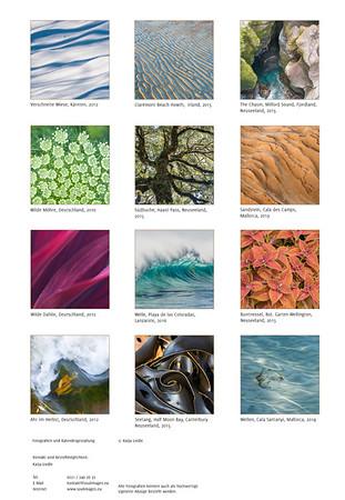 Foto-Kalender 2017 farbe:form:natur Übersicht