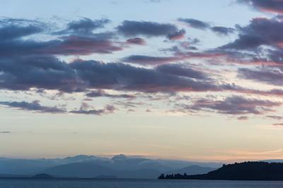 Abendstimmung am Lake Taupo